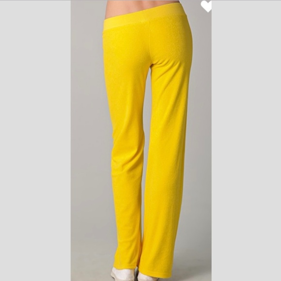 Juicy Couture Pants Jumpsuits Terry Tracksuit Yellow Legging Pants Poshmark